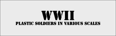 WWII miniatures in various scales
